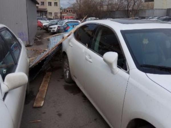 Из-за сильного ветра отдельные районы Красноярска остались без света