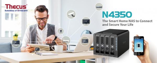 В июне Thecus представит 4-дисковый сетевой накопитель N4350