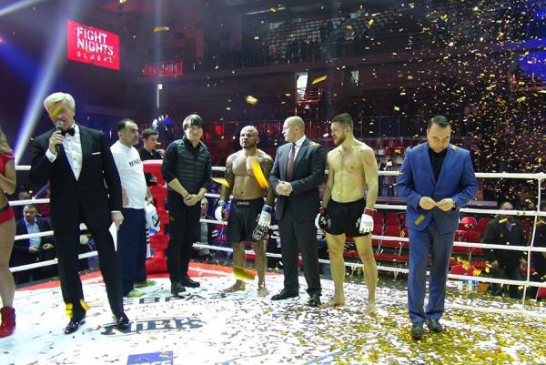 Приморский богатырь одержал победу в турнире Fight Nights Global 63