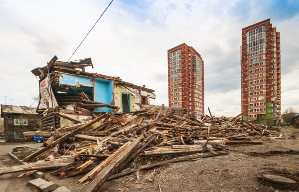 В Красноярске на месте бараков возведут жилой многоэтажный дом