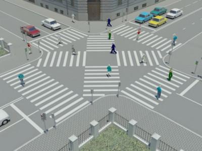 Диагональные пешеходные переходы появятся в Москве уже этим летом