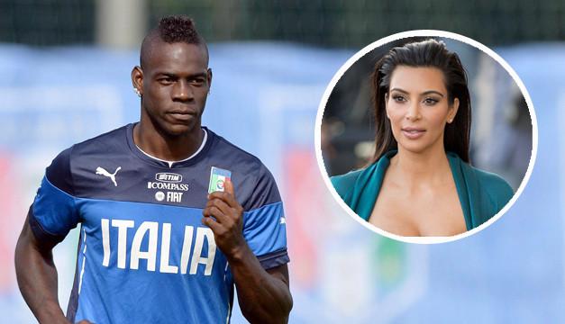 Итальянский футболист Марио Балотелли унизил Ким Кардашьян в социальных сетях