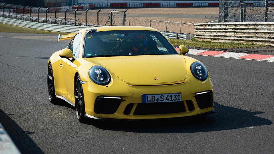 Новый Порше 911 GT3 наНюрбургринге улучшил собственный рекорд скорости