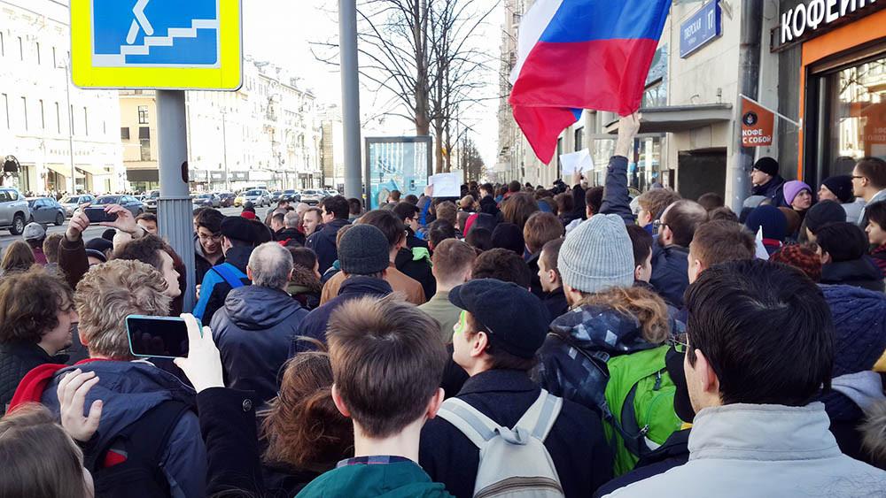 Милиция: митинг оппозиции вцентре российской столице собрал около тысячи человек