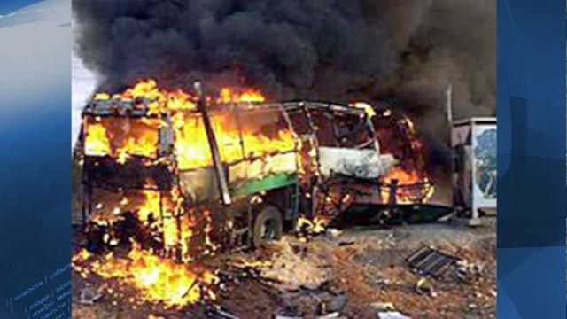 Террористы подорвали автобус нашоссе Дамаск— Эс-Сувейда