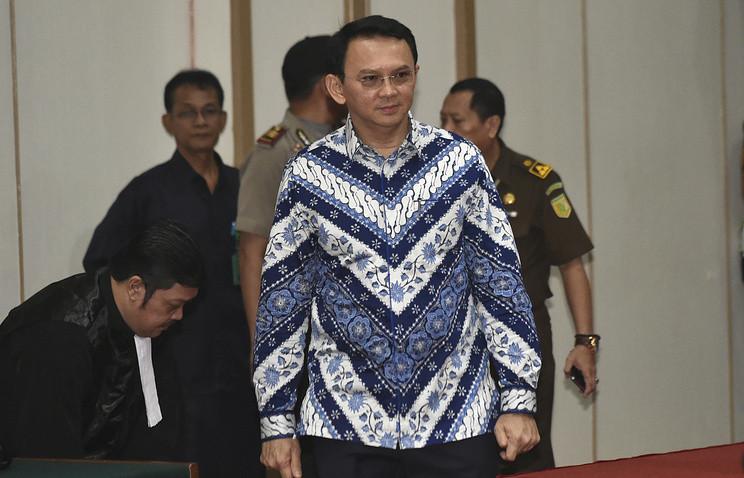 Губернатор Джакарты получил два года тюрьмы забогохульство