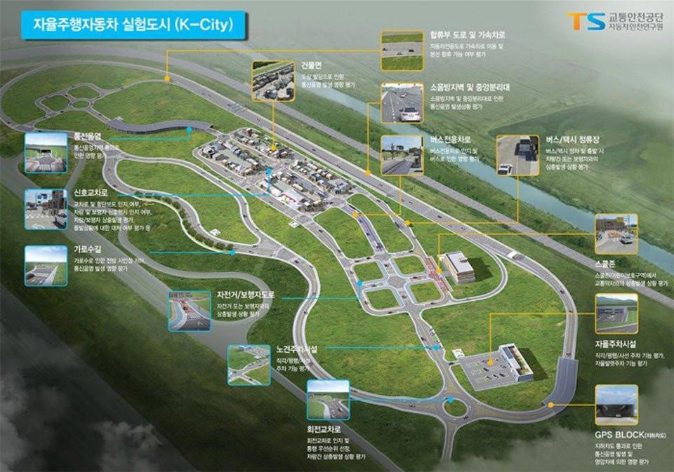 ВЮжной Корее появится искусственный город для исследования беспилотных авто