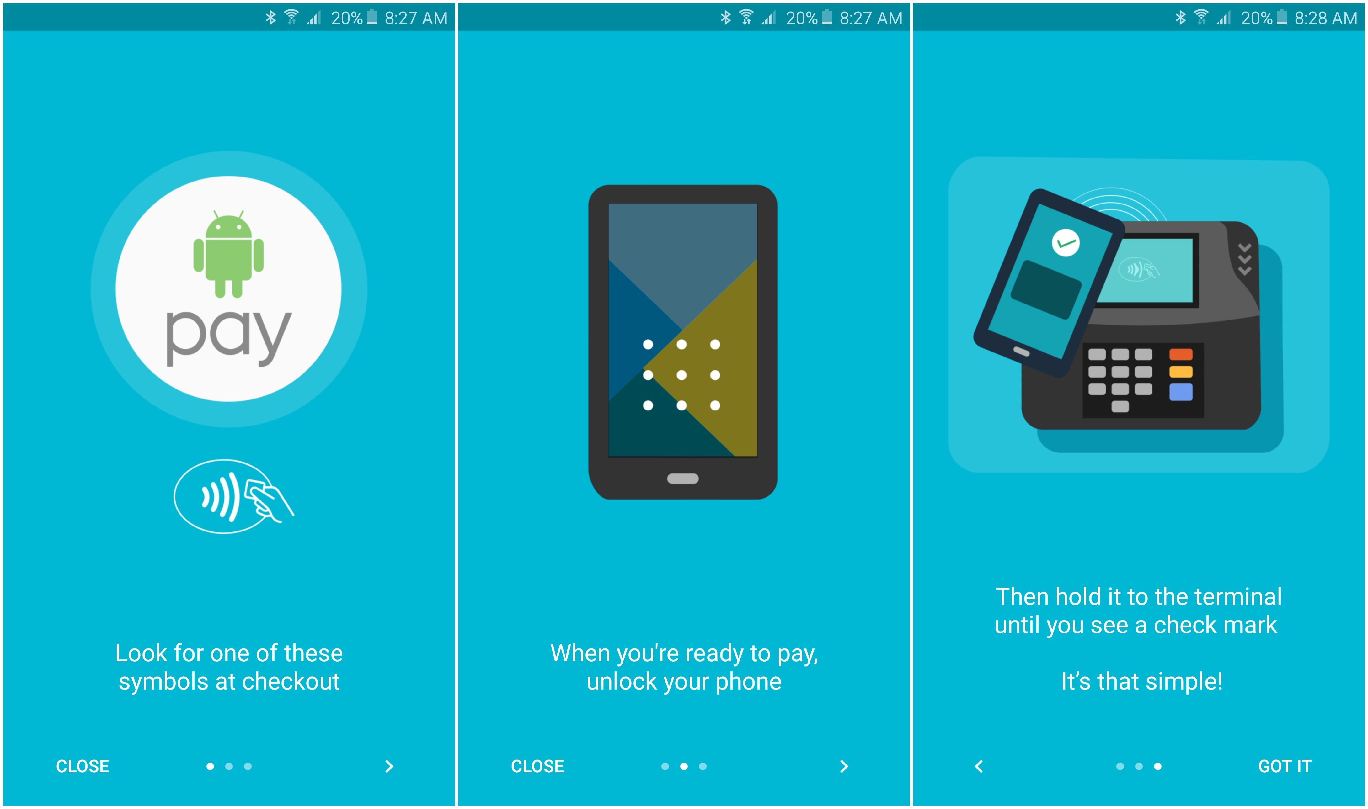 Юзеры андроид вРФ начали получать оповещение одоступности андроид Pay