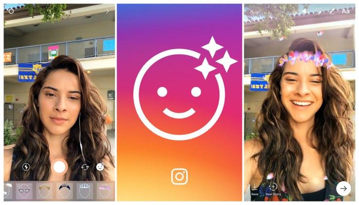 Социальная сеть Instagram  внедрил маски для «Историй» ифункцию воспроизведения видео вобратном порядке