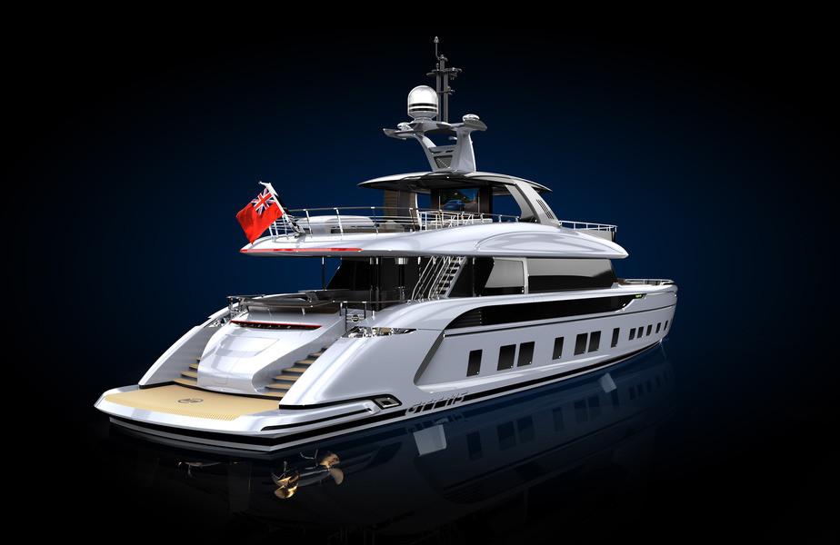 Компания Dynamiq презентует яхту сдизайном от Порш