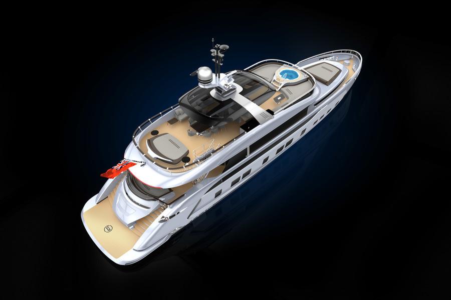 Dynamiq презентует 35-метровую яхту сдизайном Порше