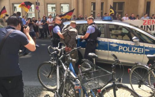 Демонстранты пытались штурмом взять министерство юстиции ФРГ