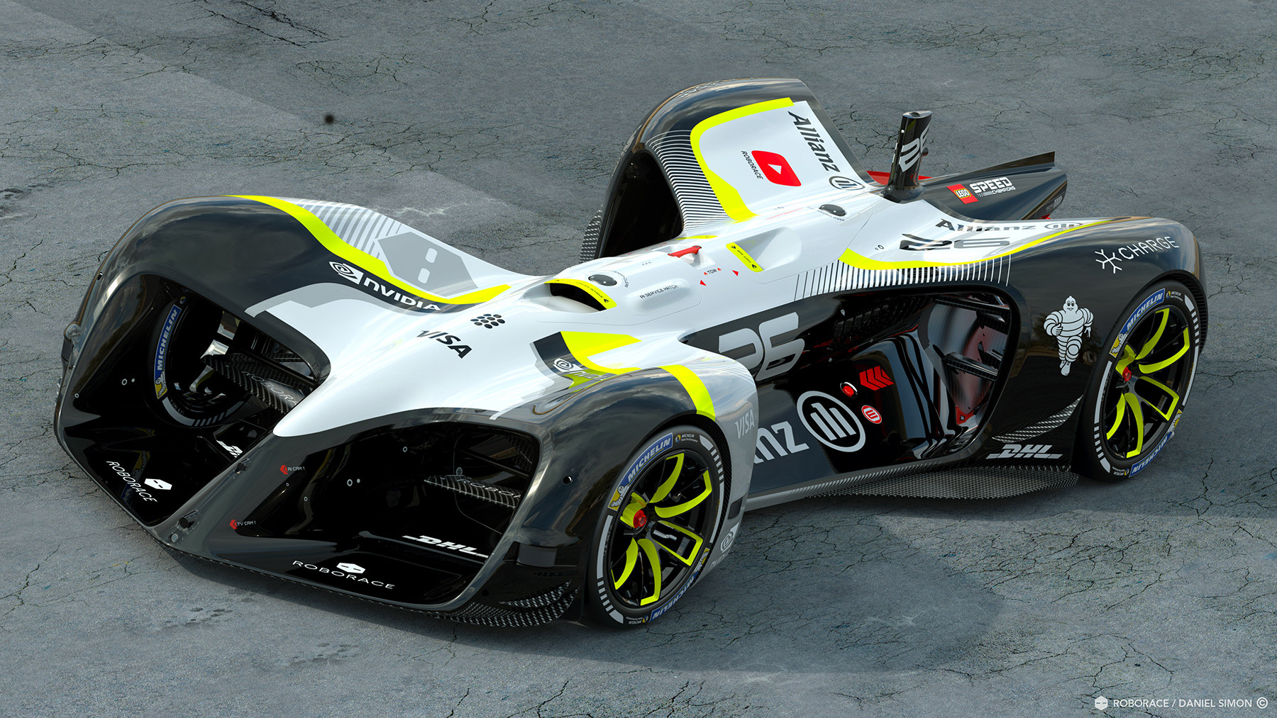 ВоФранции напубличных тестах испытана беспилотная гоночная машина