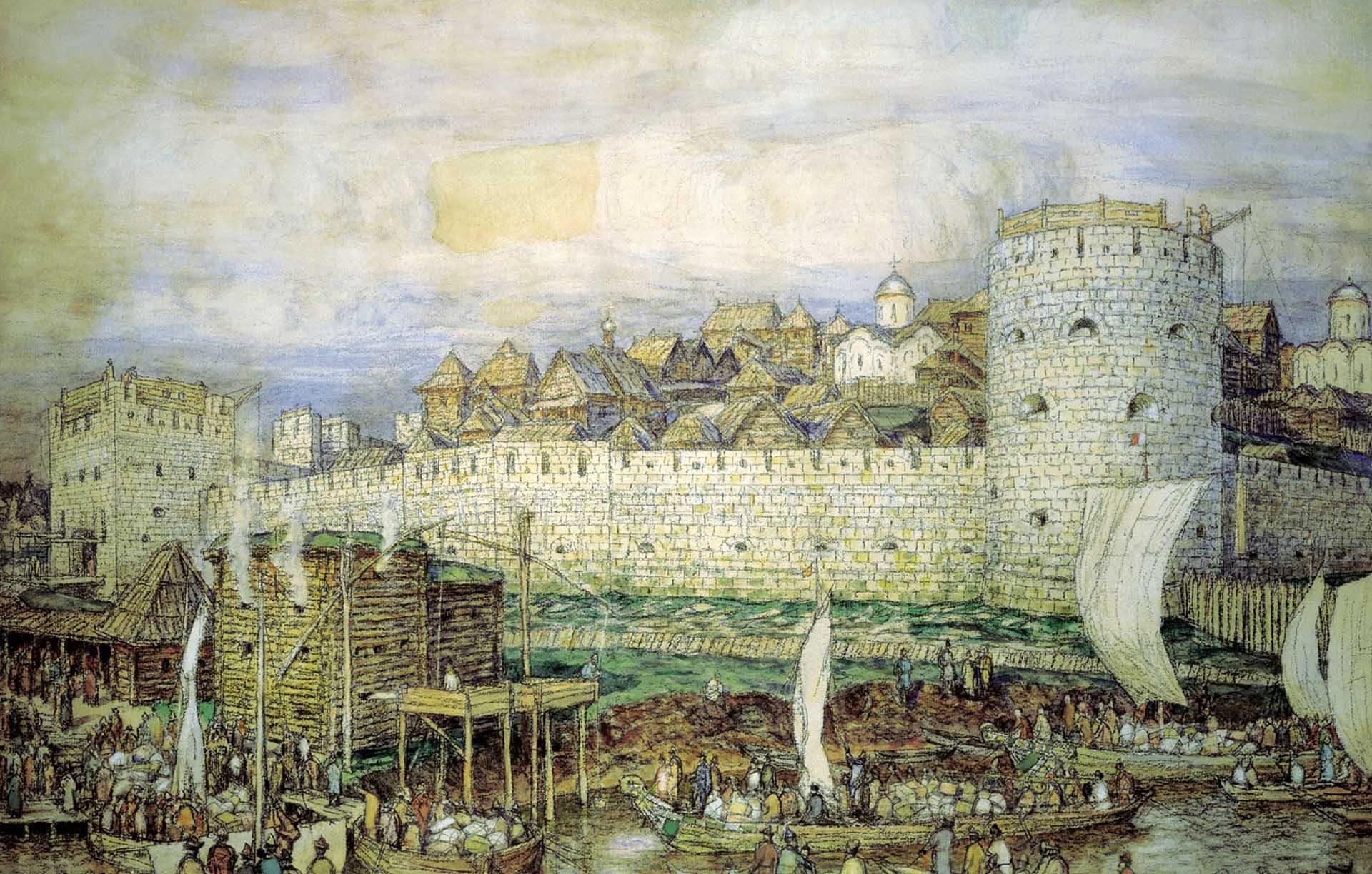 НаСлавянской площади найден белокаменный мост XVII века