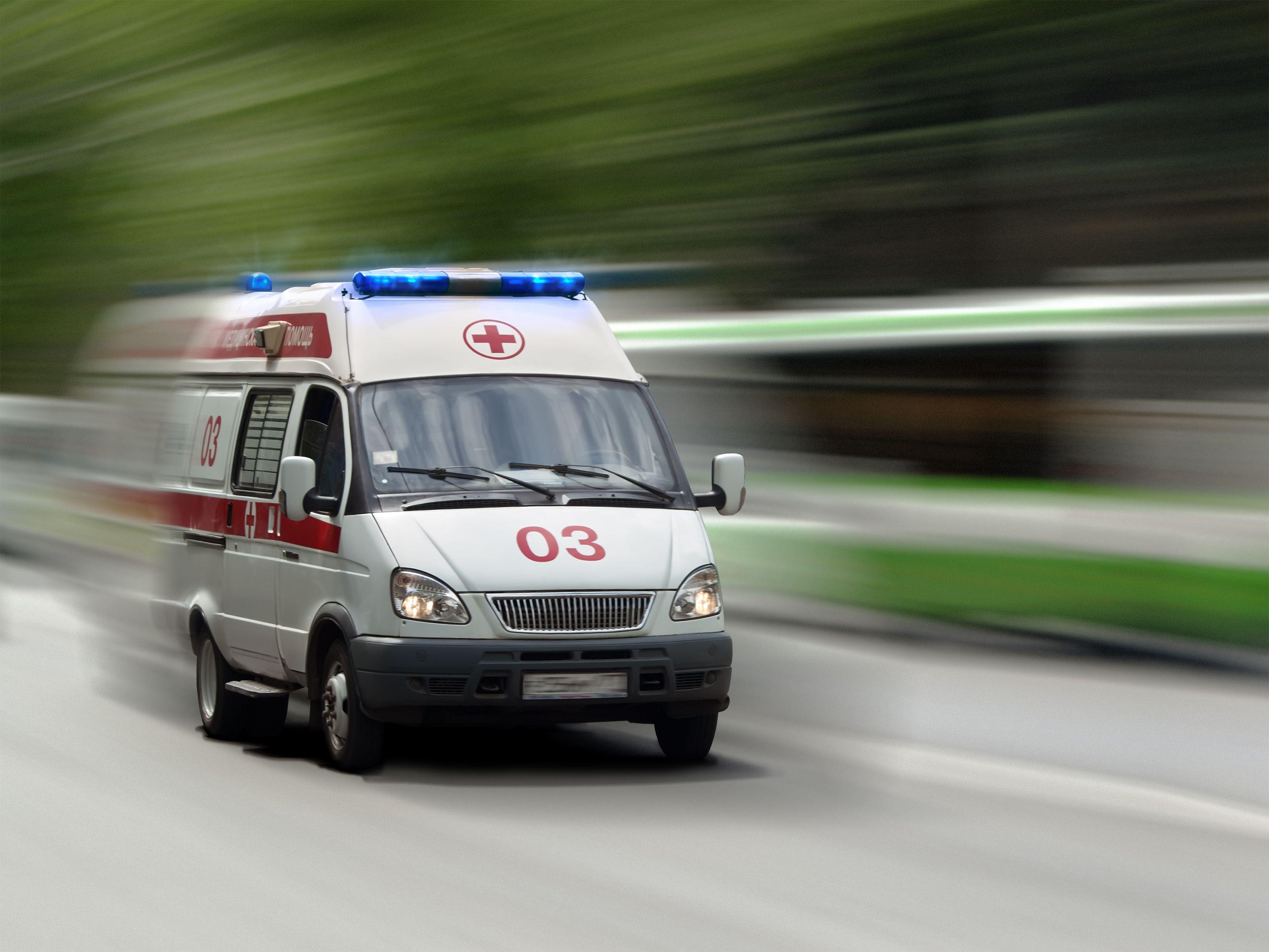 Машина скорой помощи угодила вДТП наМКАД