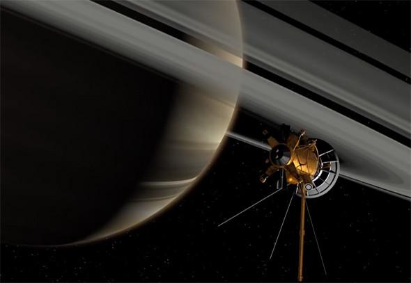 Cassini совершила опасное «погружение» в кольцо Сатурна