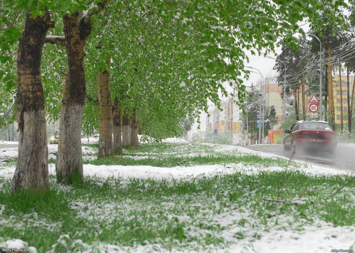Под Самарой похолодало на30 градусов ивыпал снег