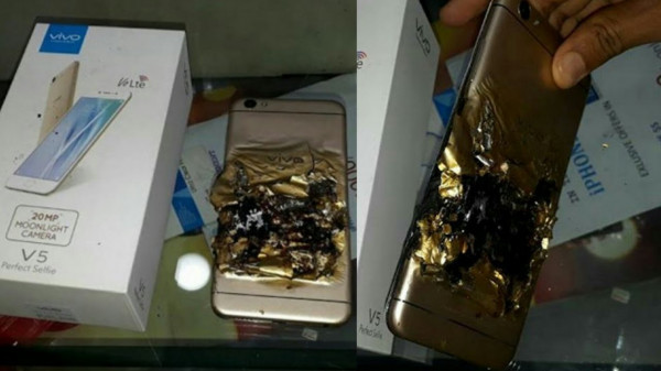 В Индии за неделю взорвались сразу два смартфона Vivo V5
