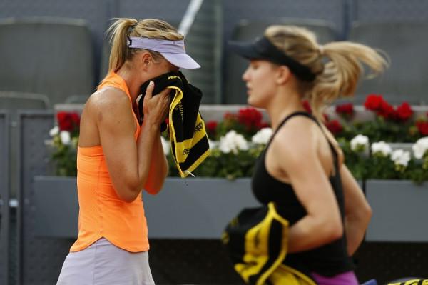 Мария Шарапова проиграла Эжени Бушар в рамках турнира в Мадриде