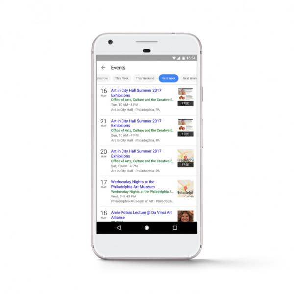 Google Search теперь поможет найти ближайшие мероприятия