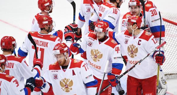 Матч между сборными России  и США продолжается со счетом 3:3