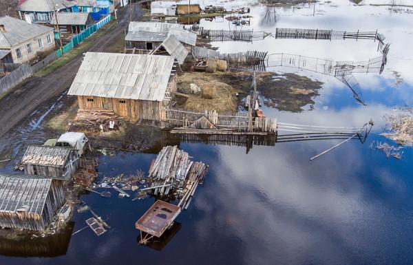 Возле Барнаула уровень воды в Оби поднялся до критической отметки