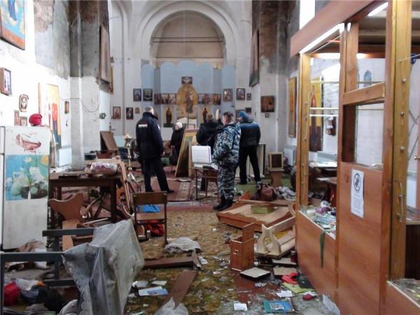 На западной Украине неизвестные вандалы разгромили церковь Московского патриархата