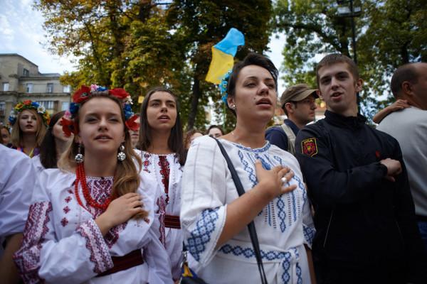 В Киеве прошел ежегодный марш вышиванок