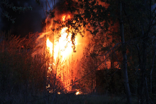 В Москве погиб человек при пожаре на территории университета