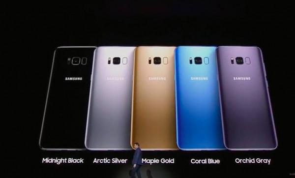 Samsung презентовал Galaxy S8 и S8 Plus в 3 новых цветах