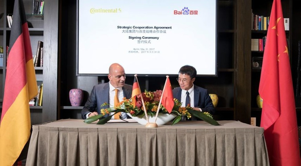 Baidu разрабатывает беспилотные технологии с континенталь иRobert Bosch