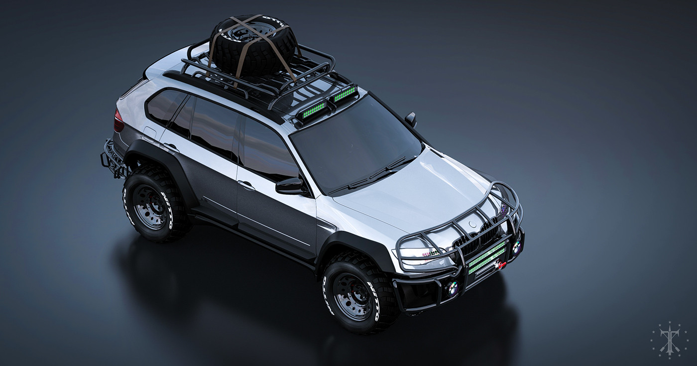 Вweb-сети появились фотографии «заряженного» для бездорожья БМВ X5