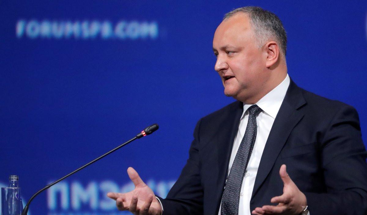 Игорь Додон поздравил россиян сДнем РФ