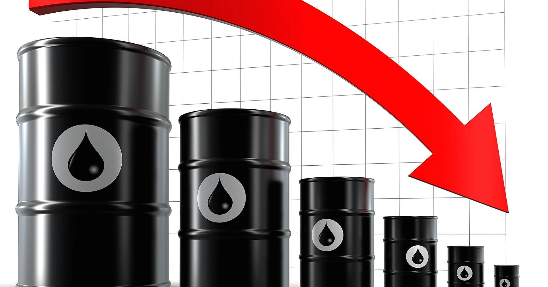 Мировые цены нанефть упали неменее чем на3%