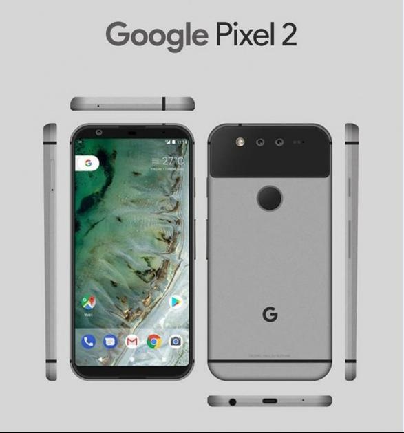 Google Pixel 2 получит новый дизайн
