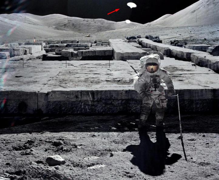 НаЛуне найден случайно попавший в эпизод дискообразный НЛО