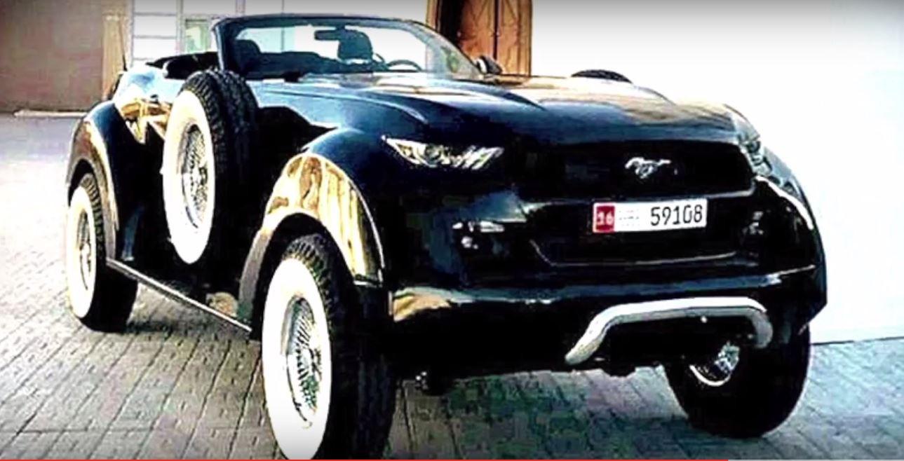 Представлен кабриолет Форд Mustang для арабского шейха
