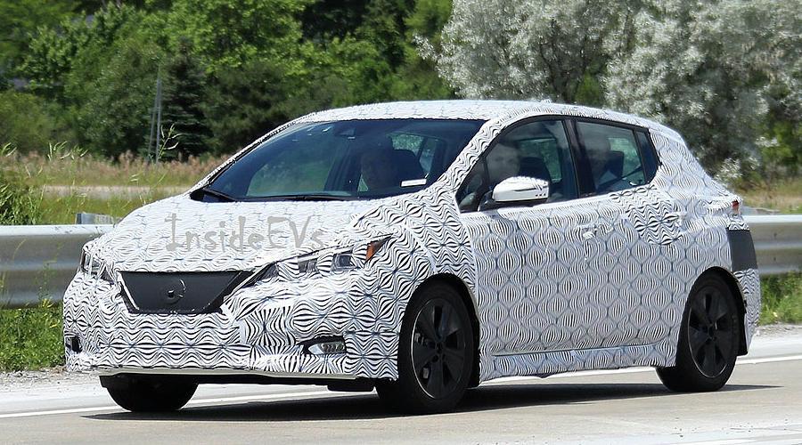 Электрокар Nissan Leaf нового поколения впервые замечен на тестах