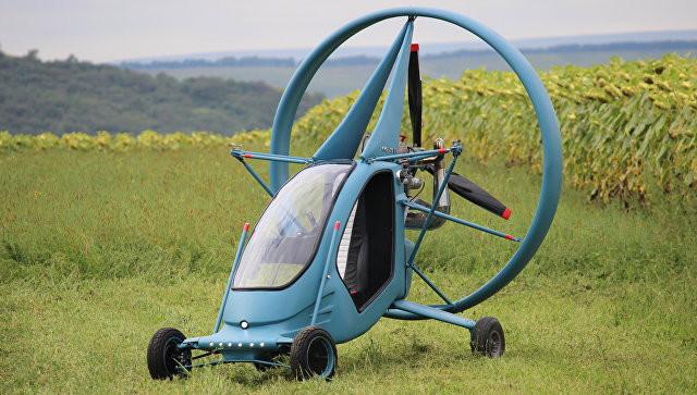 В Российской Федерации создали летающий электромобиль намягком крыле