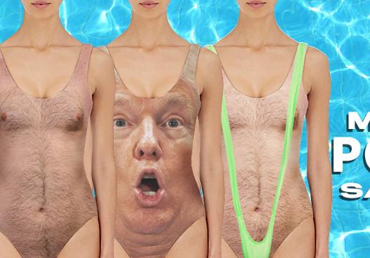ВСША компания выпустила шокирующие купальники сТрампом