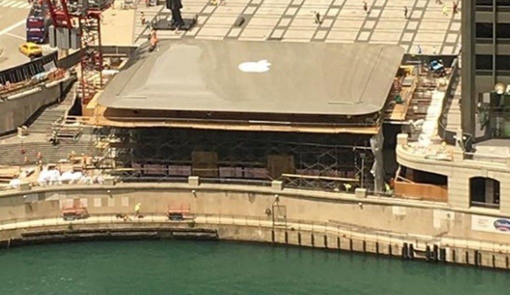 Крыша нового магазина Apple в США станет похожа на MacBook