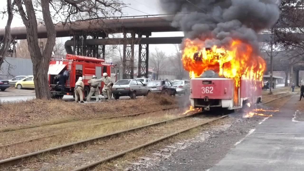 ВКазани зажегся трамвай