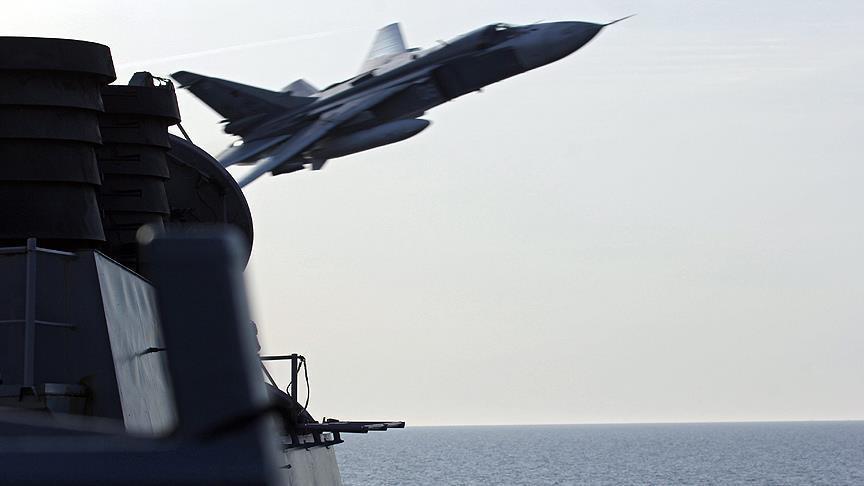 США показали фото сближения русского Су-27 ссамолетом-разведчиком