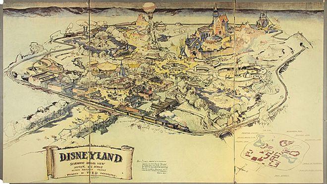 1-ый план Диснейленда продали нааукционе за неменее чем $700 тыс