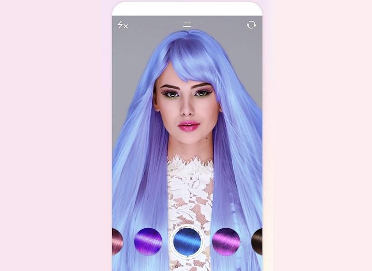 Перекрасить на фото волосы онлайн