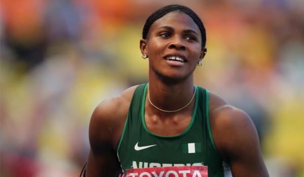 Нигерийская прыгунья в длину потеряла парик во время выступления