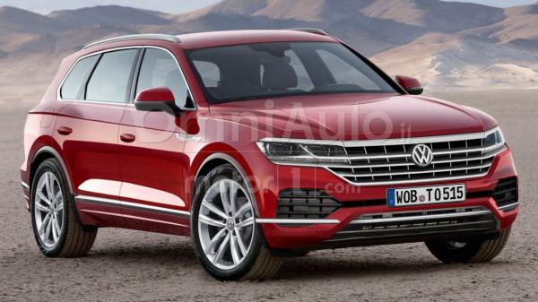 Опубликованы первые рендеры Volkswagen Touareg 2018