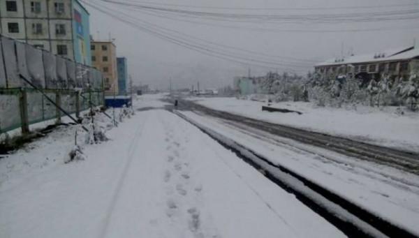 В Якутии выпал снег