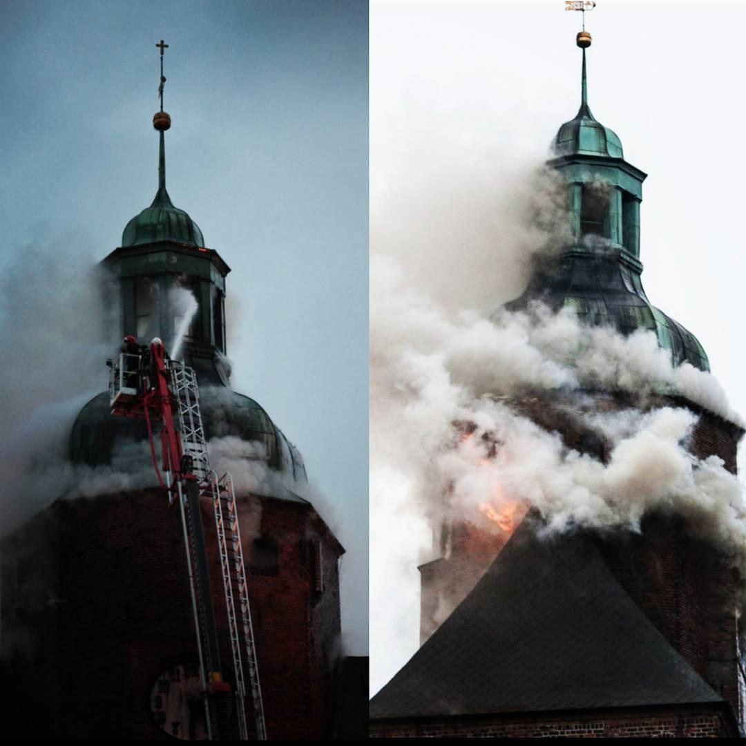 Костел XIII века достаточно серьезно  пострадал в итоге  пожара назападе Польши