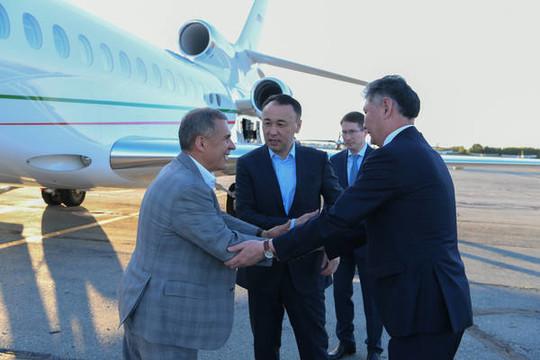 Минниханов прибыл вКазахстан для участия вСабантуе